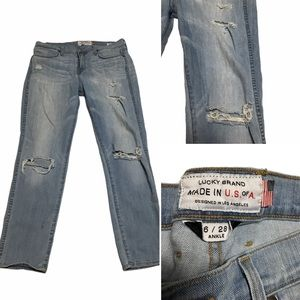 lucky brand charlotte rail jeans Size 6 distressed